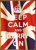 Keep Calm Flag Tin Sign