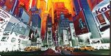 Ny Perspective Kunstdruk op gespannen doek van  Marcus
