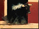 Sortie De Toril Reproduction transférée sur toile par Charles Louis