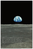 Earthrise (Earth Rising over Moon Horizon) Affiches