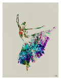 Ballerina Watercolor 5 Print by  NaxArt