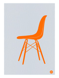 Orange Eames Chair Prints by  NaxArt