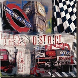 London Underground Stretched Canvas Print by Vincent Gachaga