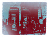 London Telephone Booth Poster by  NaxArt