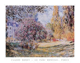 Le Parc Monceau Paris Prints by Claude Monet