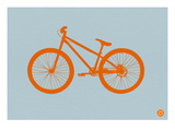 Orange Bicycle Prints by  NaxArt