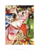 I and the Village, c.1911 Posters van Marc Chagall