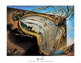 Montre molle au moment de la première explosion, 1954 Poster par Salvador Dalí