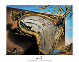 Weiche Uhr im Moment ihrer ersten Explosion, ca. 1954 Kunstdrucke von Salvador Dalí