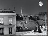 La Tour Eiffel De La Rue St Eleuthère Reproduction transférée sur toile par Antoine Carrara