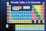 Periodic Table of the Elements Dark Blue Plakater