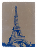 Eiffel Tower Blue Poster by  NaxArt