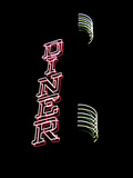The Neon Lights of a Diner Sign Shine Bright Against the Black Night Photographic Print by Amy & Al White & Petteway