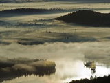 Morning Fog Shrouds the Surface of Bear Pond Photographic Print by Michael Melford