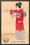 Japan Air Lines, Geisha c.1950's Posters by  Mitsumura