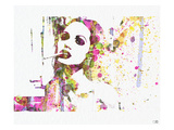 Angelina Jolie 4 Print by  NaxArt