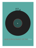 Music Is In Outburst Of The Soul Poster Posters by  NaxArt