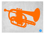 Orange Tuba Print by  NaxArt