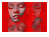 Red Beauty Mirrored Prints by  NaxArt