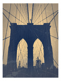 Brooklyn Bridge Prints by  NaxArt