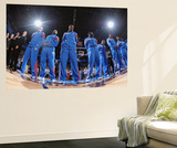 Oklahoma City, OK - June 6: The Oklahoma City Thunder stands for the National Anthem Wall Mural by Garrett W. Ellwood