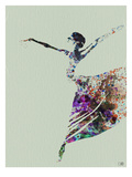 Ballerina Watercolor 3 Print by  NaxArt