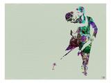 Tango Dancers Watercolor Kunstdrucke von  NaxArt