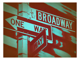 New York Broadway Sign Print by  NaxArt