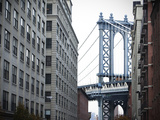 The Manhattan Bridge from Washington Street in Dumbo, Brooklyn Photographic Print by Keith Barraclough
