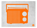 Orange Transistor Radio Prints by  NaxArt