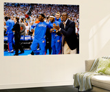 Oklahoma City, OK - June 6: Royal Ivey, Lazar Hayward, Cole Aldrich and Reggie Jackson Wall Mural by Layne Murdoch