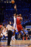 Oklahoma City, OK - June 12: Serge Ibaka and LeBron James Photographic Print by Ronald Martinez