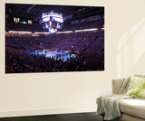 Oklahoma City, OK - June 12: Teams line up during Game One of the 2012 NBA Finals Wall Mural by Joe Murphy