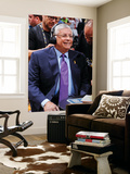 Miami, FL - June 17: NBA Commissioner David Stern smiles during an interview Art by Andrew Bernstein