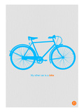 My Other Car Is A Bike ( Blue Poster) Prints by  NaxArt