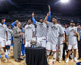 Oklahoma City, OK - June 6: Kendrick Perkins, Kevin Durant, Serge Ibaka and Russell Westbrook Photo by Layne Murdoch