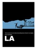 Los Angeles Poster Poster von  NaxArt