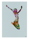 Dancer Watercolor 5 Print by  NaxArt