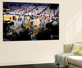 Oklahoma City, OK - June 6: TNT NBA analysts Shaquille O'Neal, Ernie Johnson Jr., Kenny Smith and C Prints by Layne Murdoch