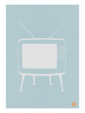 Vintage Tv Blue Poster Prints by  NaxArt