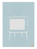 Vintage Tv Blue Poster Prints by  NaxArt