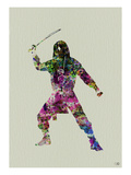 Ninja Watercolor 2 Print by  NaxArt