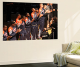 Miami, FL - June 17: The Oklahoma City Thunder players line up during Game Three of the 2012 NBA Fi Reproduction murale géante par Joe Murphy