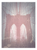 Brooklyn Bridge Red Poster by  NaxArt