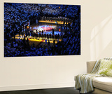 Miami, FL - June 17: General view of the arena as teams line up for Game Three of the 2012 NBA Fina Wall Mural by Mike Ehrmann