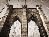 The Brooklyn Bridge, a National Landmark Photographic Print by Keith Barraclough
