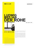 Mies Van Der Rohe Poster Poster af NaxArt