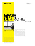 Mies Van Der Rohe Poster Prints by  NaxArt