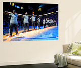 Oklahoma City, OK - June 12: Dwyane Wade, LeBron James and Chris Bosh Wall Mural by Andrew Bernstein