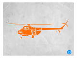 Orange Helicopter Posters by  NaxArt